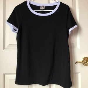 anne klein black top